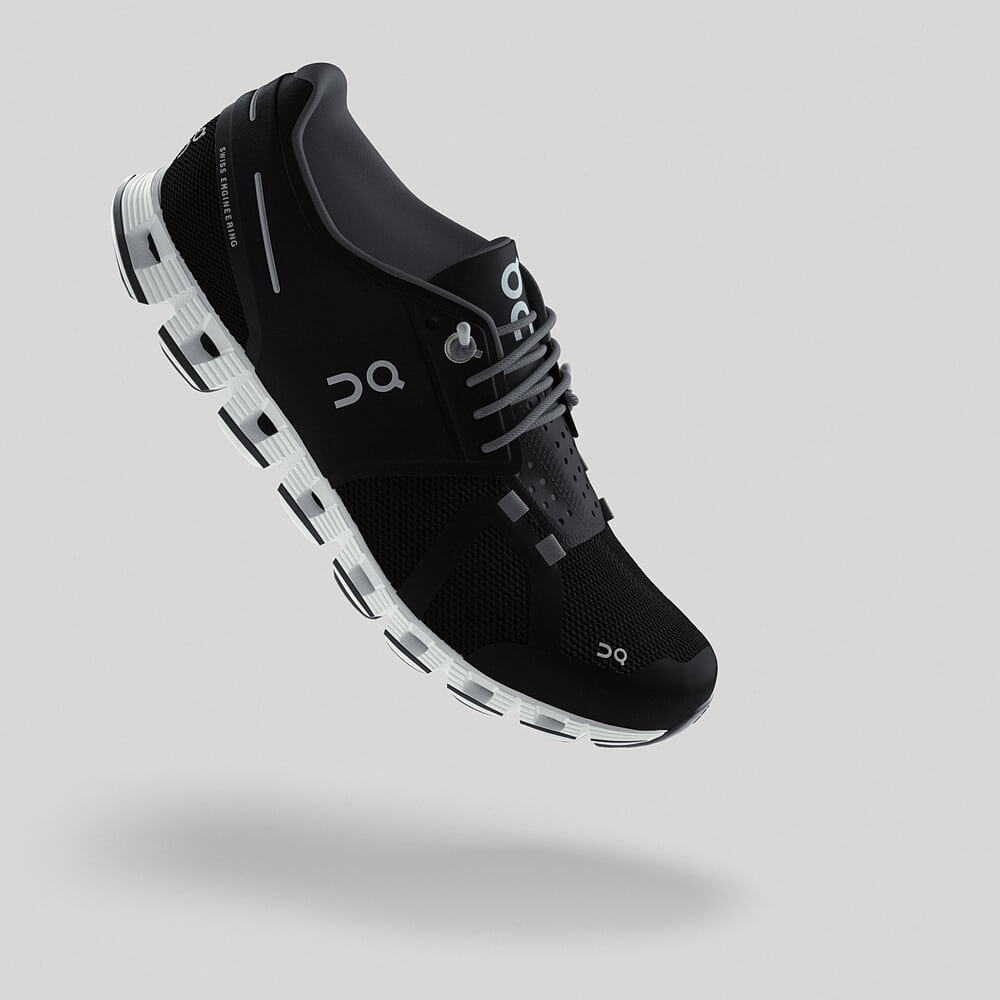 Lightweight Black Slip On Shoe